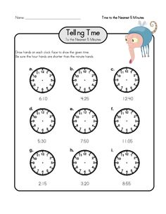 Telling Time Practice 3 | Cool Math, Math Worksheets and Telling Time
