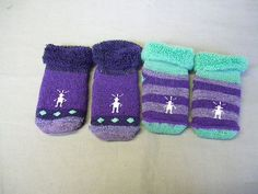 Smartwool 2 Lot Toddlers Bootie Batch Size 12M in Grape Spearmint 098 | eBay
