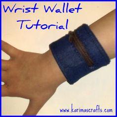 Wrist cuff wallet tutorial