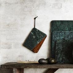 Planche marbre vert et bois  madam stoltz