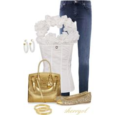 """""""Skinnies And Ruffles And Flats"""" by sherryvl on Polyvore"""