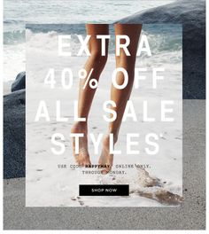 Madewell Sale Email Design