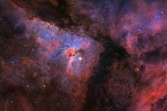 The Eta Carinae Nebula, a stellar system containing at least two stars about 7,500 light-years from the Sun, is shown in all its glory in this picture by Stephen Mohr