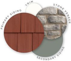 Mastic color palette, midnight mystery, quest vinyl siding, cedar discovery vinyl shingle siding, designer accents, trim, cut cobblestone stone veneer, coordinating colors