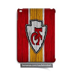 Kansas City Chiefs on Wood iPad Air Mini 2 3 4 Case Cover