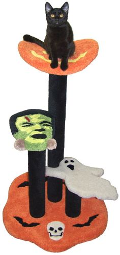 Halloween Cat Perch - CatsPlay.com - Fun furniture, condos and climbing gyms for cats and kittens.