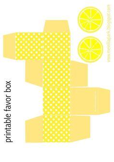 Free printable polka dot favor box with lemon tags - ausdruckbare DIY Box - freebie | free paper downloads – MeinLilaPark | Bloglovin'