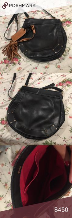 Chloe Crossbody Good used condition. No tears, only some wear on the tassel. Chloe Bags Crossbody Bags