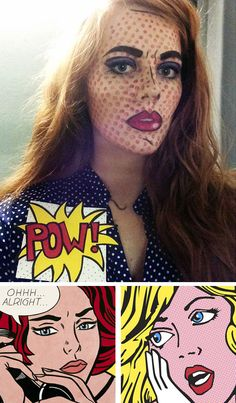 Pop Art Girl Halloween Costume | Click Pic for 22 Easy DIY Halloween Costumes for Women 2014 | Last Minute Halloween Costumes for Women