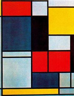 """""""Cuadro II"""" de Piet Mondrian (1872-1944, Netherlands)"""