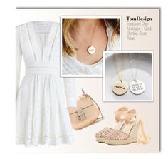 """""""TomDesign - Etsy"""" by monmondefou ❤ liked on Polyvore featuring Chloé, Zimmermann, Catherine Catherine Malandrino, tomdesign and engravednecklace"""