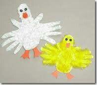 Duck/goose handprint craft