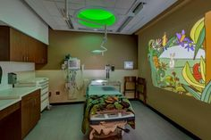 PHOTO TOUR: Florida Hospital Tampa | Healthcare Design --- Seven ED pediatric treatment rooms include sensory immersive, ambient technology proven to reduce anxiety in patients. Photo: Laurence Taylor