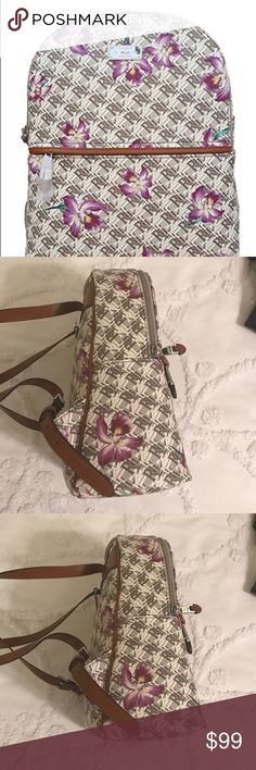 Lauren Ralph Lauren Orchid Backpack Lauren Ralph Lauren Belknap Faux Leather Backpack in beautiful natural white orchid. Top zippered closure and front zippered closure. On interior there are two pockets and one zippered pocket. NWT (new with tags) Lauren Ralph Lauren Bags Backpacks