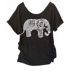 Elephant Tribal Yoga OM Off Shoulder Shirt One Size Swanky