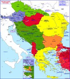 THE BALKAN STATES 1 (1918 - 1938) ---- Balkan States Map (1918-1938 ...