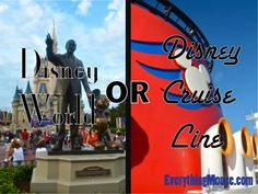 Are you trying to decide between a Disney Cruise and Walt Disney World? This guide will help you see the pros and cons of Disney World v Disney Cruises  #disneyworld #disney #disneycruises