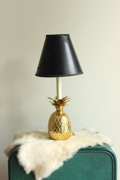 Beautiful Bright Brass Pineapple Lamp on Etsy, $120.00