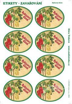 Samolepicí etikety, zavařování, rybízový džem