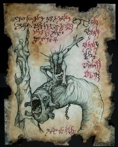Demon riding a worm devourer.