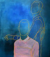 two figures Painting, Art, Art Background, Painting Art, Kunst, Paintings, Performing Arts, Painted Canvas, Drawings