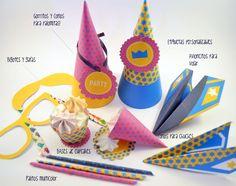 Kit diy imprime tu party. Ideal para decorar juntos cualquier fiesta o evento. Deja que los peques den rienda suelta a la creatividad. #idoproyect