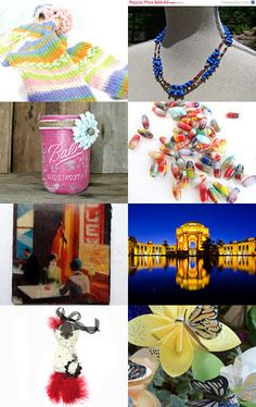 Eclectic Treasures - Pay It Forward Treasury by Frog Hollow Glass --Pinned with TreasuryPin.com