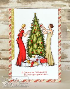 Skin: FS4, FS6, FS9, TB3 Blond hair: GB2, GB8, GB10, Blender Brown hair: EB3, EB7, EB8, GB8 Red dress: CR8, CR11, DR7, BG1, BG2, BG4 Golden dress: EB3, EB8, IG1-3, Blender Christmas tree: DG2-4, CG4 Decoration: CR8, CR11, DR7, GB2, GB8, GB10, OR1, CT3, IG1-4 Background & Floor: BG1-4, BG6, BG8, Blender