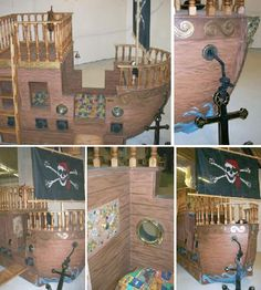 pirate ship for Peter Pan play room