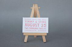 DIY: Mini Canvas and Easel save the dates! - Brooklyn Bride - Modern Wedding Blog