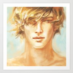 The golden boy. Art Print by Alice X. Zhang - $15.00