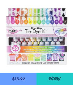 Tulip Fabric Paint, Marker Crafts, Tie Dye Kit, One Step, Tie Dye Colors, First Step, Tulips, Markers, Ebay
