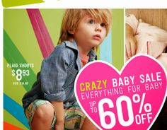Hunting and pecking for fresh deals on your not so run of the mill baby and children's goods. Baby Up, Baby Boy Newborn, Toddler Gifts, Baby Gifts, Baby Coupons, Crazy 8, Baby Sale, Homemade Gifts, Everything