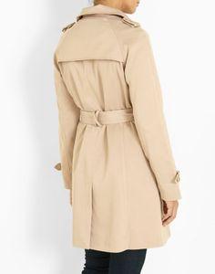 Trench droit uni beige Femme - Jacqueline Riu Magasin Vetement Femme,  Vêtements Femmes, Manteau 06d65cf8228