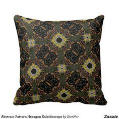 Abstract Pattern Hexagon Kaleidoscope Pillow