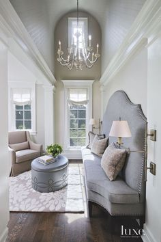 This banquette seating adds comfort and luxury to numerous types of living spaces. H Design, House Design, Custom Design, Banquette Seating In Kitchen, Dining Nook, Family Room, Home And Family, Banquettes, Booth Seating