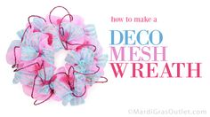 deco mesh wreath tutorial how to make instructions video #baby shower
