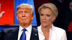 Donald Trump meets with Megyn Kelly
