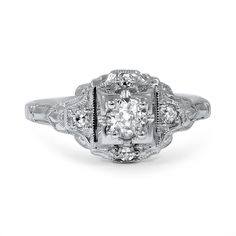 The Cadis Ring from Brilliant Earth. 1930 art deco style antique engagement ring. $2970