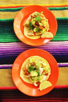 Tacos with coriander-oil