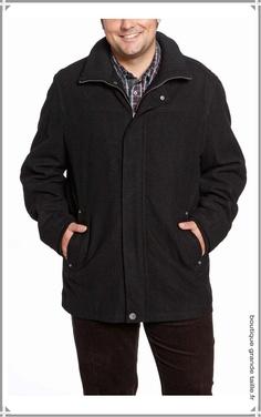 Veste habillée en laine homme collection masculine hiver grande taille chaude et confortable.