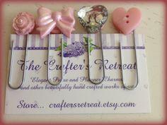 4 Pink Victorian Cute Kawaii Paper Clips #1 for Planners, Filofax, Gillios or Books Erin Condren