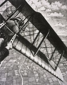 Lot AR Christopher Richard Wynne Nevinson A. (British, Banking at 4000 feet (Leicester Galleries Lithograph, a crisp impression with strong contrasts, on watermarked Holbein. Bonhams: The Grosvenor School and Avant-Garde British Printmaking World War One, First World, Leeds Art Gallery, Ww1 Art, William Hogarth, English Artists, Aviation Art, Museum Of Fine Arts, A4 Poster