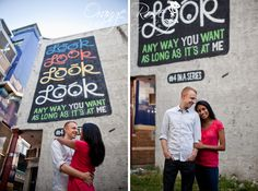 Mural Engagement Session   Love Letter Murals   Look, Look, Look, Look Any Way You Want as Long as It's at Me   Urban Engagement Session   Center City Philadelphia, PA   Hannah Chen Photography, www.hannahchenphotography.com