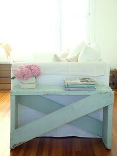This is cute and simple. I need to make something like this for next to my sectional.