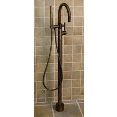 Vernon Free Standing Gooseneck Tub Faucet with Handshower - Oil Rubbed Bronze CODE: 107580