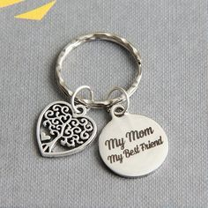 Mother Keychain Mother Keyring My Mom My Best Friend