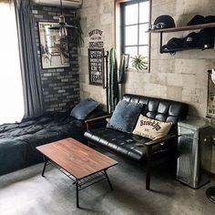 Apartment Interior, Mens Bedroom Decor, Interior Design, House Interior, Small Living Room Decor, Small Apartment Interior, Home Room Design, Bedroom Design, Studio Interior