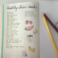 This list to keep handy in case you want to diversify your healthy snack options: | 29 Bullet Journal Layouts For Anyone Trying To Be Healthy