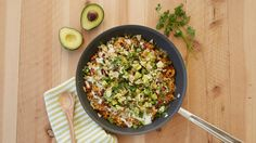 Avocados and burgers and bacon with ranch dressing … these are a few of our favorite things! Get them all together in this yummy skillet dinner.